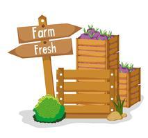 Bauernhof frische Produkte