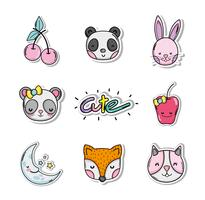 Set of cute cartoons