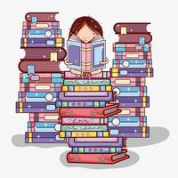 Cute girl with books
