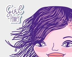 Girl power cartoon