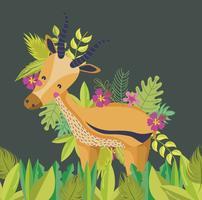 Desenhos animados bonitos dos animais dos animais selvagens