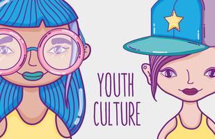 Youth culture millenial womens cartoon