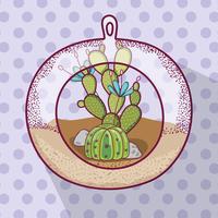 Pflanze in Polyederglas