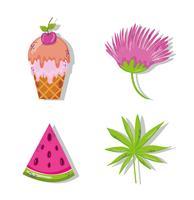 Set di cartoni animati estivi