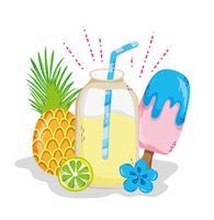 Delicious summer juice cartoon vector