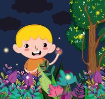 Süsser Boy im Wald