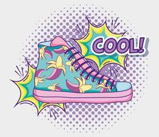 Cool shoe pop art vector