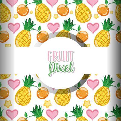Free Pixel Fruit Vector Art