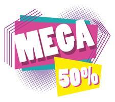 Mega-försäljning rabatterar memphis-stil