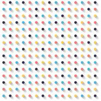 Abstract striped circles dots colorful and shadow on white background. vector