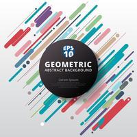 Abstract kleurrijk geometrisch het patroonontwerp en achtergrond van de kleurencirkel.