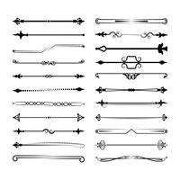 Collection of vector dividers. Can be used for design, letters, jewelry, gifts, notebooks
