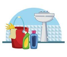 housekeeping cleaning cartoon