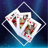 Casino cards emblem vector