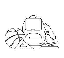 mochila escolar con útiles escolares
