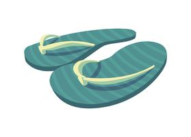 sandals flip flops summer icons vector