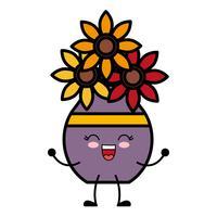 jarrón con icono de flores