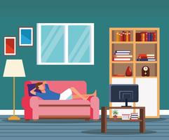 activities and free time at home vector