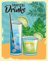 affiche cocktail tropical