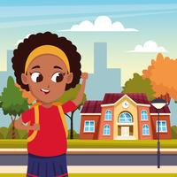 back to school with happiness vector