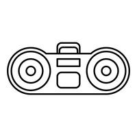 boombox stereo system icon vektor