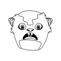 lustiger Monster-Comicfigur-Avatar