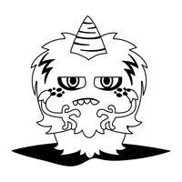 personnage monstre drôle avec corne