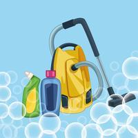 hushållning rengöring tecknad