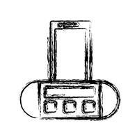 icona dell'altoparlante audio portatile