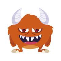 personnage drôle de monstre avec cornes