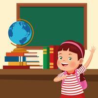 Zurück zu Schule scherzt Karikaturen