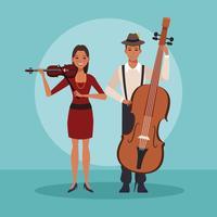 Banda de música de dibujos animados