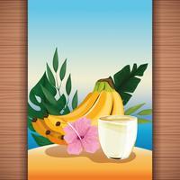 Sommar tropisk förfriskningsfruktsaft