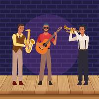 Music band cartoon