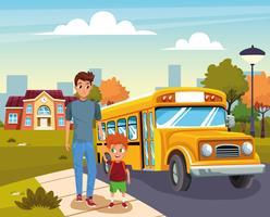 regreso a la escuela con felicidad