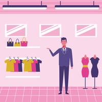 Clothing store staff