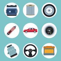 Fábrica de automóviles y sus partes.