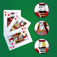 Poker leisure cards vector