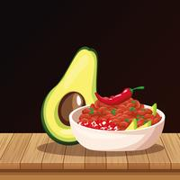 Mexican food cartoons vector