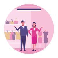Personal de la tienda de ropa