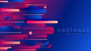 Colorful geometric Trendy gradient shapes composition.