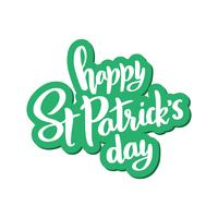 Vector lettering for St. Patrick's Day on.