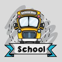 school bus tranport design to student vector