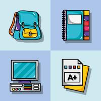 set school tools design to study and learn