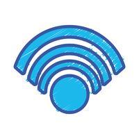 kleur wifi symbool naar verbinding in het digitale web