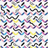 estilo de memphis com desenho geométrico de cor