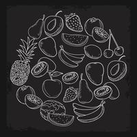 frutas dibujadas a mano vector
