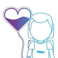 lijn man met bloeddonatie donor transfusie