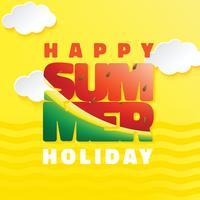 Summer Typography Vector Design