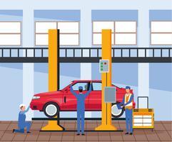 Trabajador en fabrica de automoviles